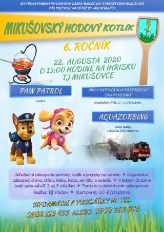 Mikušovský hodový kotlík 2020 - 6. ročník (plagát).png
